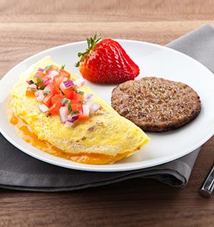 Farmhouse Omelet + Maple Sausage